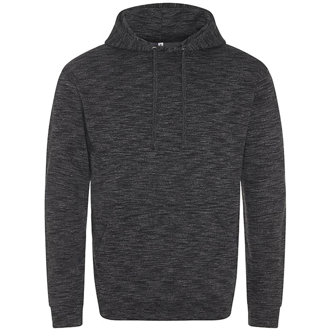 Black-White - Front - AWDis Mens Cosmic Blend Hoodie