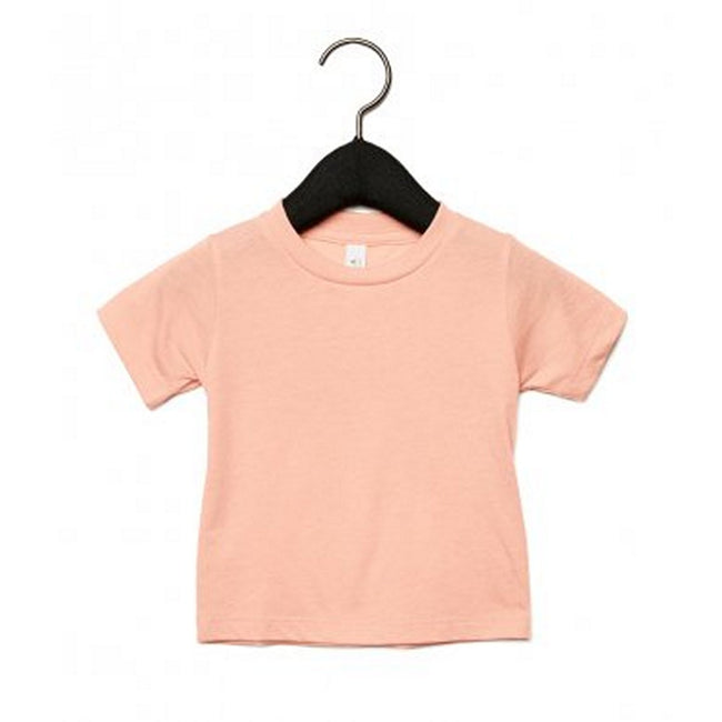 Peach Triblend - Front - Bella + Canvas Baby Tri-Blend T-Shirt