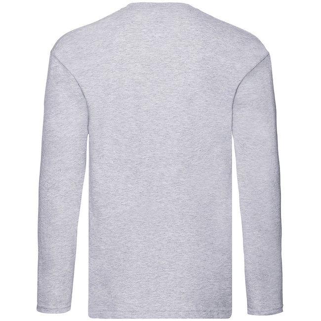 Heather Grey - Front - Fruit Of The Loom Mens Original Long Sleeve T-Shirt