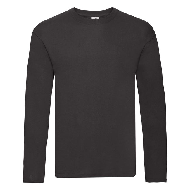 Black - Front - Fruit Of The Loom Mens Original Long Sleeve T-Shirt