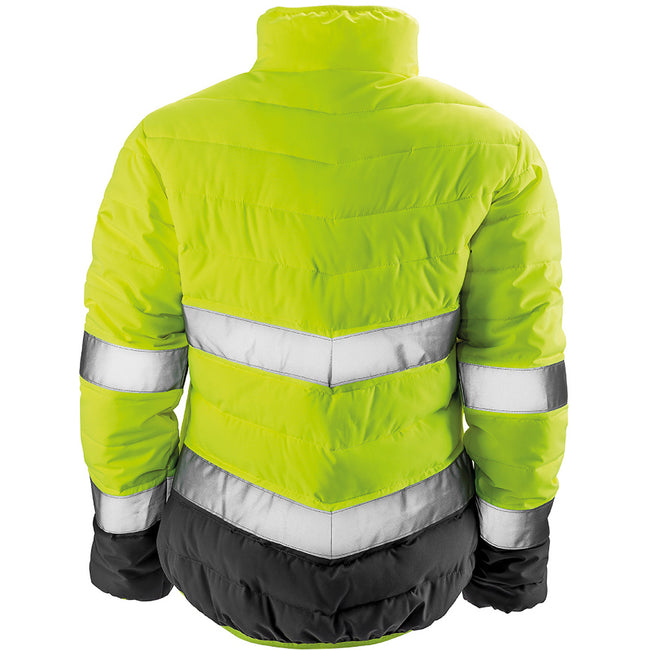 Fluorescent Orange-Grey - Front - Result Womens-Ladies Safe-Guard Soft Safety Jacket