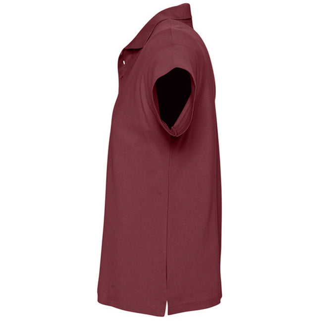 Pink - Back - SOLS Mens Summer II Pique Short Sleeve Polo Shirt