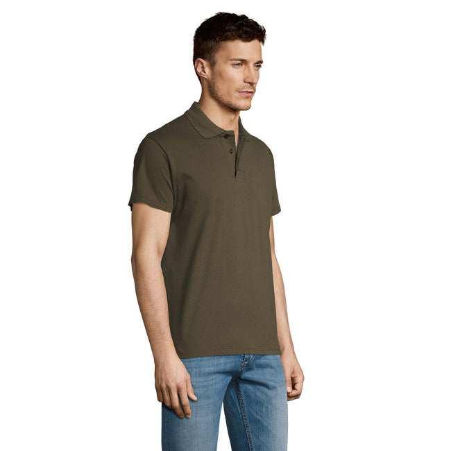 Blue Atoll - Side - SOLS Mens Summer II Pique Short Sleeve Polo Shirt