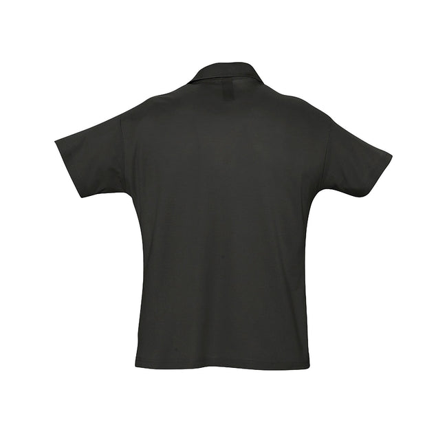 Sand - Back - SOLS Mens Summer II Pique Short Sleeve Polo Shirt