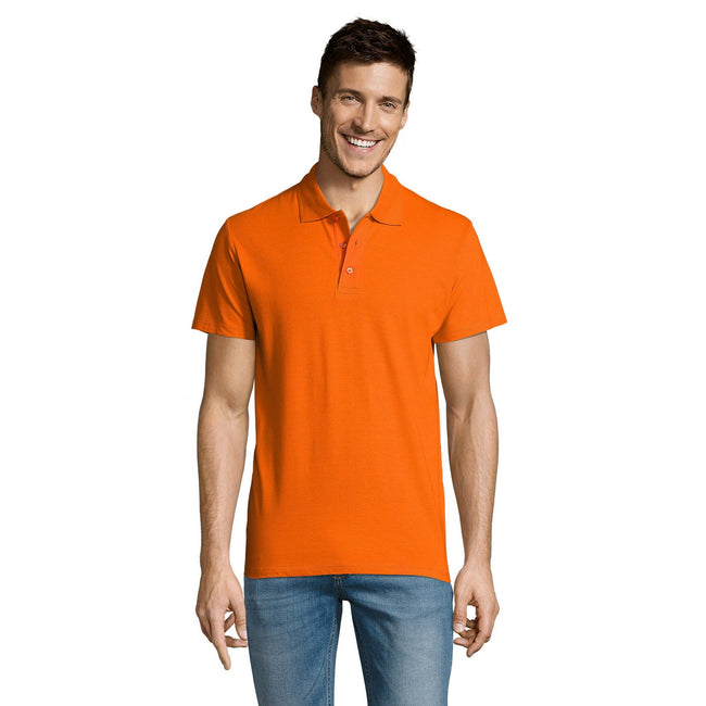 Gold - Lifestyle - SOLS Mens Summer II Pique Short Sleeve Polo Shirt