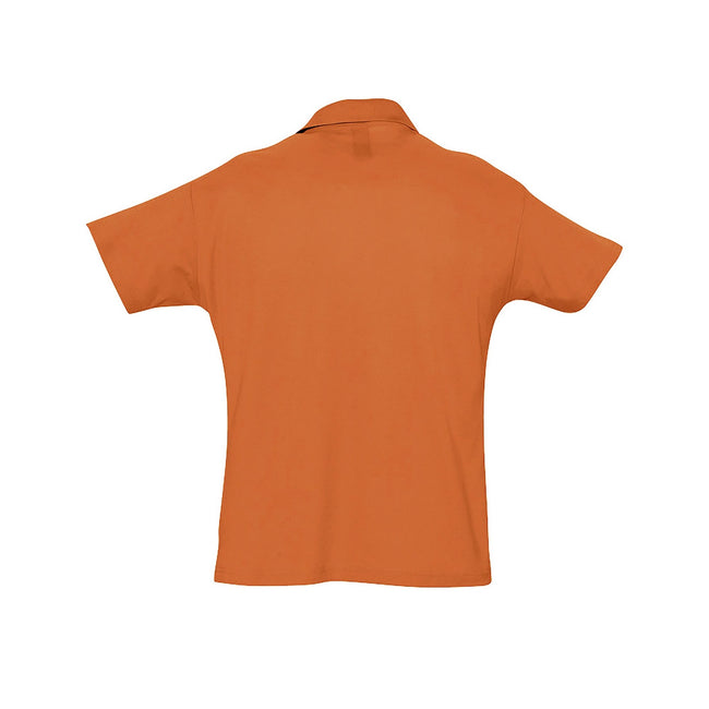 Aqua - Front - SOLS Mens Summer II Pique Short Sleeve Polo Shirt