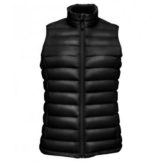 Black - Front - SOLS Womens-Ladies Wilson Lightweight Padded Bodywarmer