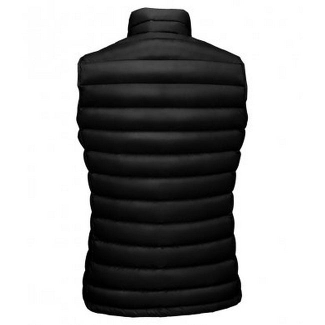 Black - Side - SOLS Womens-Ladies Wilson Lightweight Padded Bodywarmer