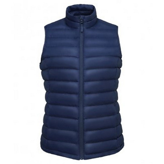 French Navy - Back - SOLS Womens-Ladies Wilson Lightweight Padded Bodywarmer
