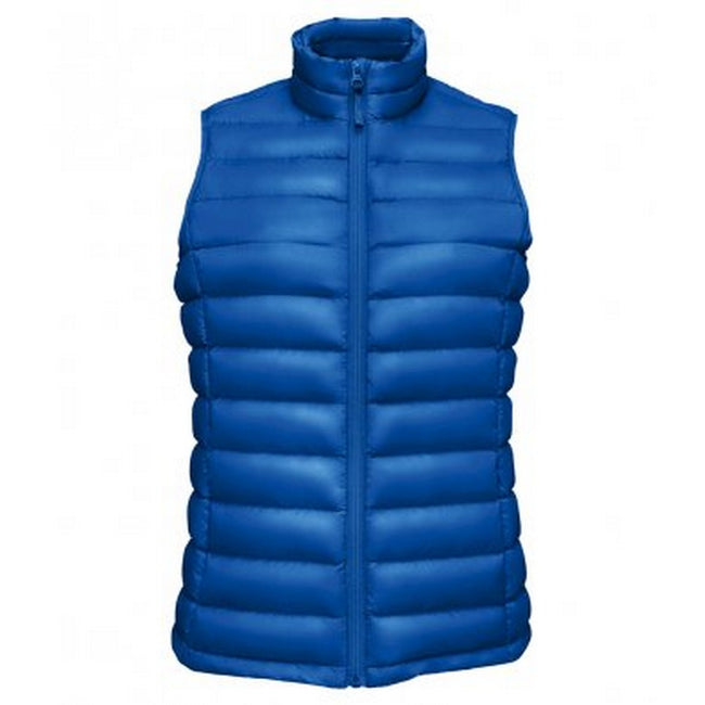 Royal Blue - Front - SOLS Womens-Ladies Wilson Lightweight Padded Bodywarmer