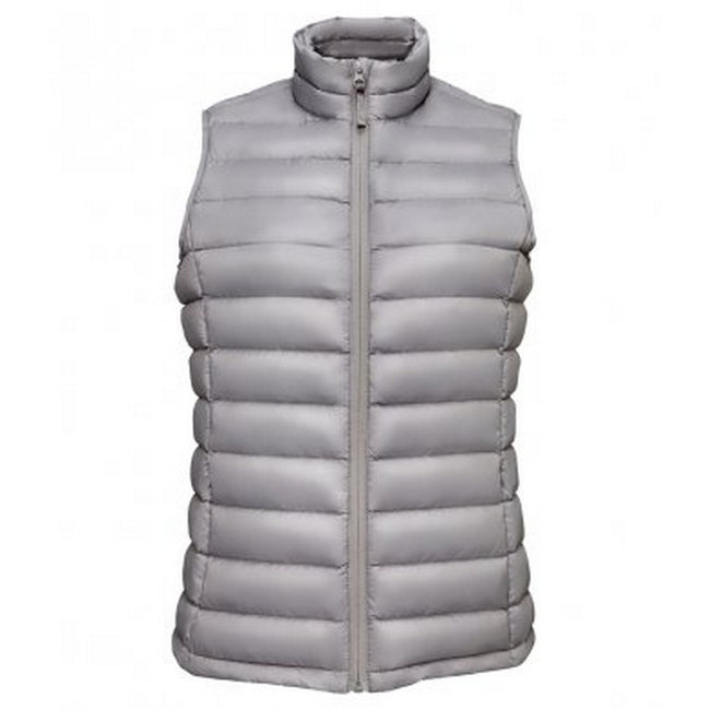 Metal Grey - Front - SOLS Womens-Ladies Wilson Lightweight Padded Bodywarmer
