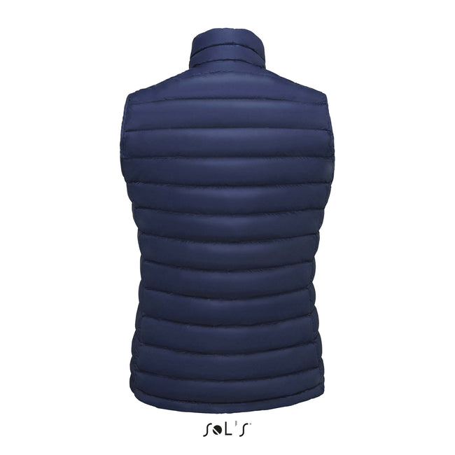 French Navy - Front - SOLS Womens-Ladies Wilson Lightweight Padded Bodywarmer