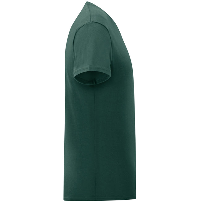 Heather Purple - Back - Fruit Of The Loom Mens Iconic T-Shirt
