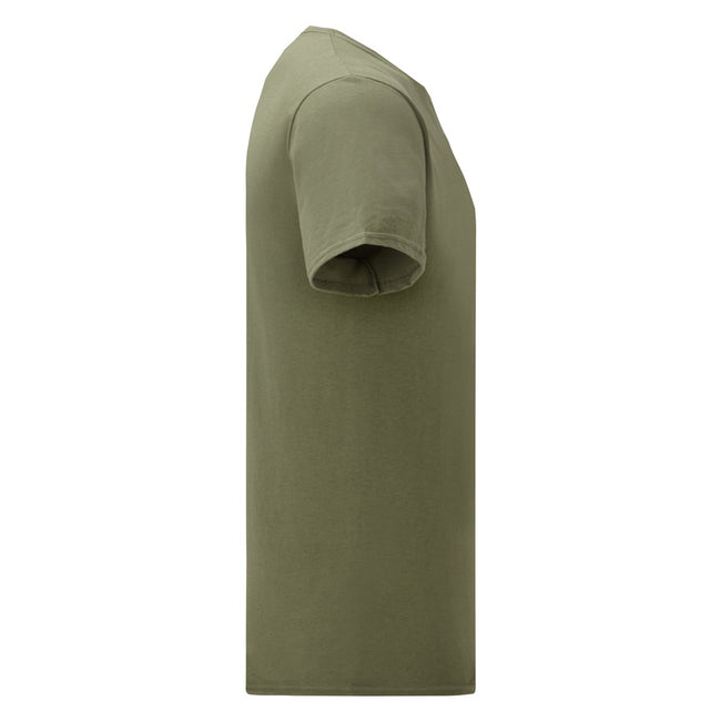 Heather Burgundy - Front - Fruit Of The Loom Mens Iconic T-Shirt