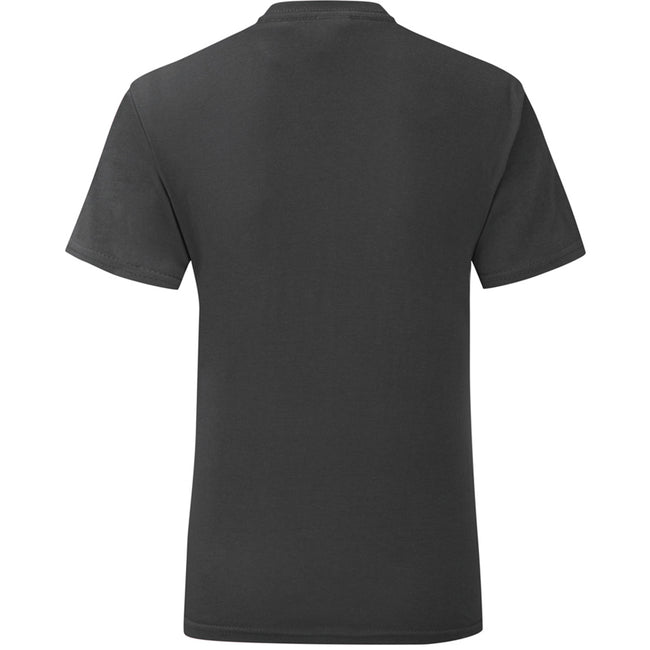 Black - Back - Fruit Of The Loom Mens Iconic T-Shirt