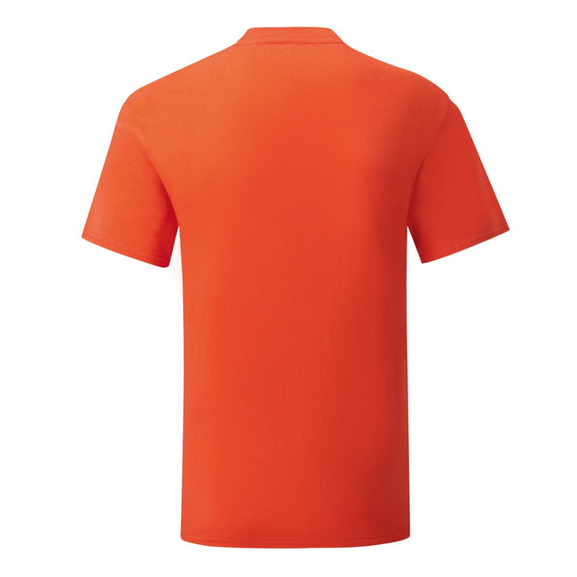 Flame Orange - Front - Fruit Of The Loom Mens Iconic T-Shirt
