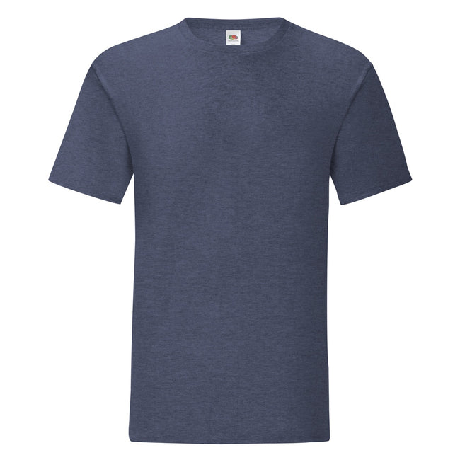 Heather Navy - Front - Fruit Of The Loom Mens Iconic T-Shirt