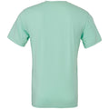 Heather Mint - Back - Bella + Canvas Adults Unisex Heather CVC T-Shirt