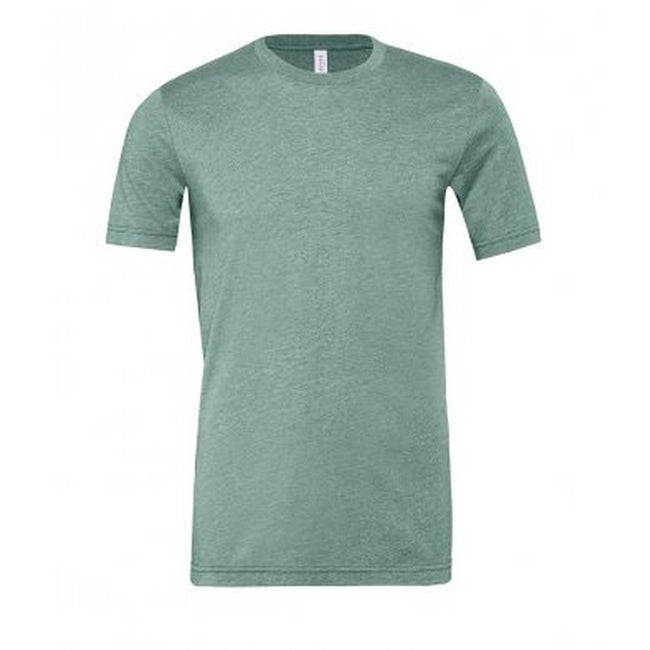 Heather Blue - Front - Bella + Canvas Adults Unisex Heather CVC T-Shirt