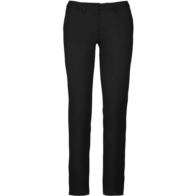 Camel - Front - Kariban Womens-Ladies Chino Trousers