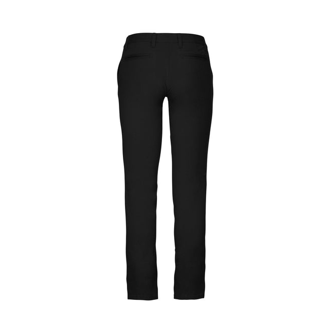 Fine Grey - Front - Kariban Womens-Ladies Chino Trousers