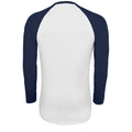 White-French Navy - Side - SOLS Mens Funky Contrast Long Sleeve T-Shirt