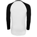 White-Deep Black - Back - SOLS Mens Funky Contrast Long Sleeve T-Shirt