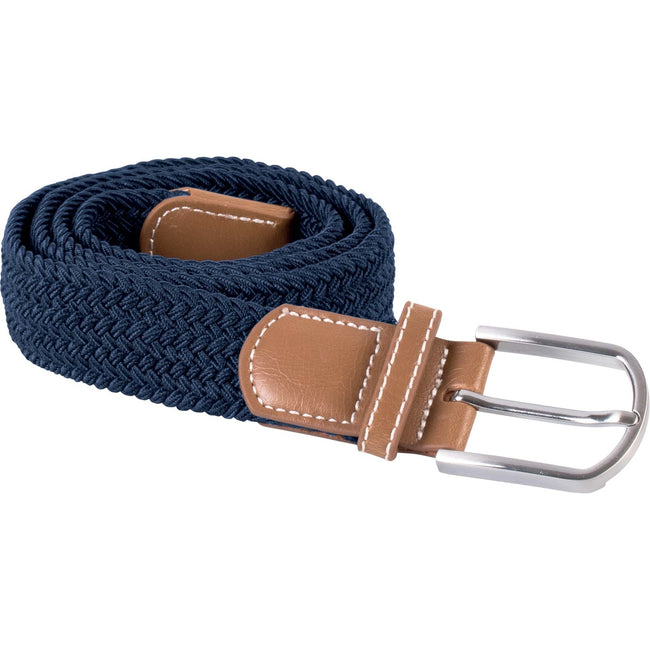 Navy - Front - K-UP Adults Unisex Braided Elasticated Belt