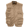 Black - Side - SOLS Wild Unisex Full Zip Waistcoat Bodywarmer Jacket