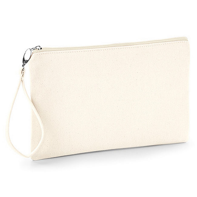 Natural-Natural - Front - Westford Mill Canvas Wristlet Pouch