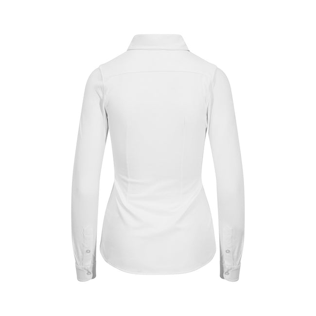 White - Back - AWDis So Denim Womens-Ladies Anna Knitted Long Sleeve Shirt