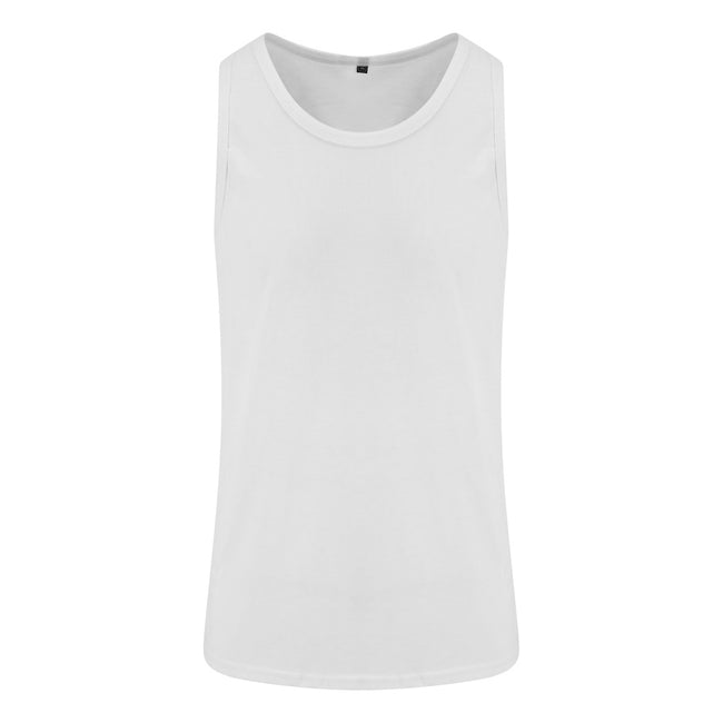 Solid White - Front - AWDis Just Ts Mens Tri-Blend Vest