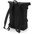 Black-Black - Side - BagBase Block Roll-Top Backpack