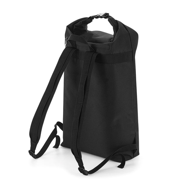 Black - Front - BagBase Icon Roll-Top Backpack