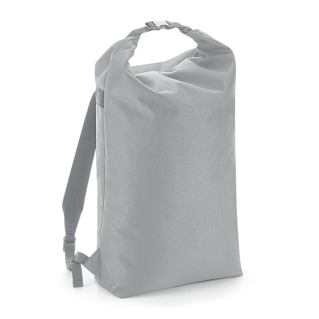 Light Grey - Front - BagBase Icon Roll-Top Backpack