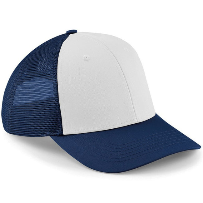 Bright Royal-White - Front - Beechfield 6 Panel Snapback Trucker Cap