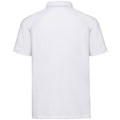 White - Back - Russell Mens HD Raglan Jersey Polo Shirt