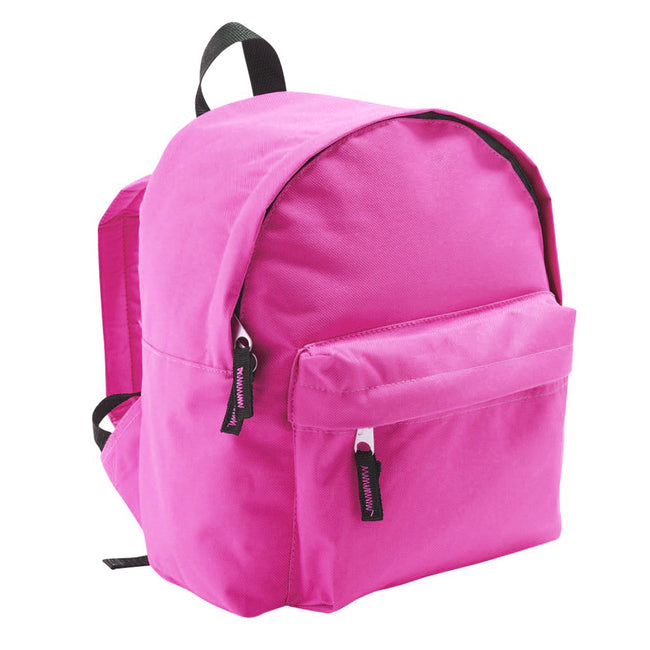 Fuchsia - Back - SOLS Kids Rider School Backpack - Rucksack