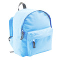 Sky Blue - Back - SOLS Kids Rider School Backpack - Rucksack