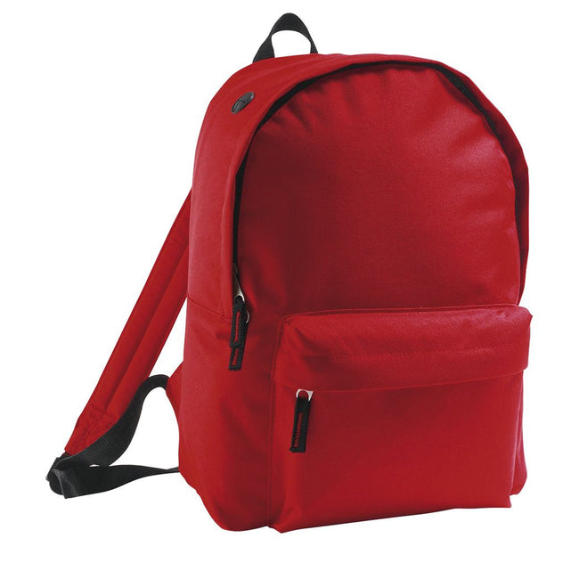 Red - Front - SOLS Kids Rider School Backpack - Rucksack
