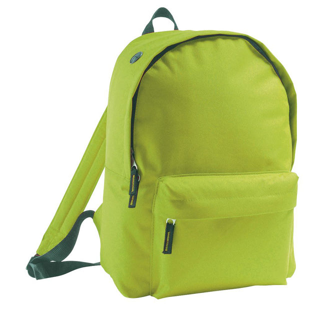 Apple Green - Front - SOLS Kids Rider School Backpack - Rucksack