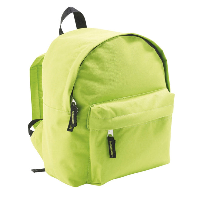 Apple Green - Back - SOLS Kids Rider School Backpack - Rucksack