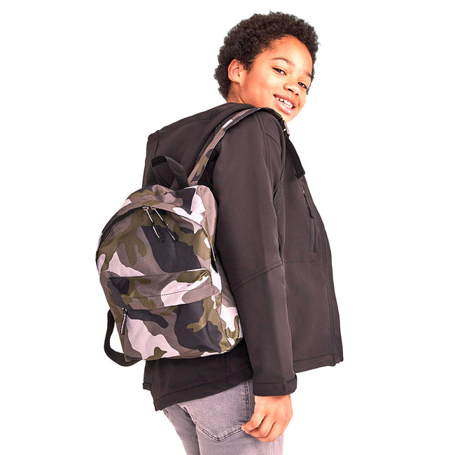 Camouflage - Side - SOLS Kids Rider School Backpack - Rucksack
