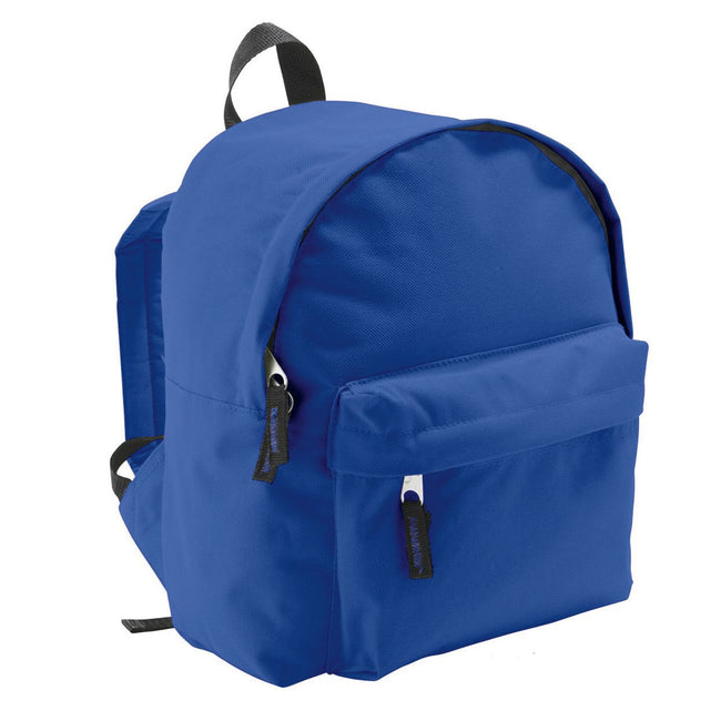 Royal Blue - Back - SOLS Kids Rider School Backpack - Rucksack