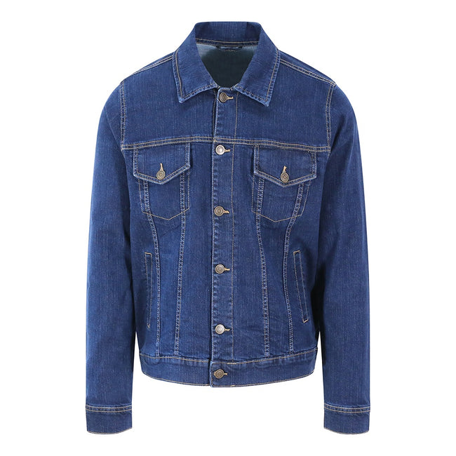 Dark Blue Wash - Front - So Denim Mens Noah Denim Jacket