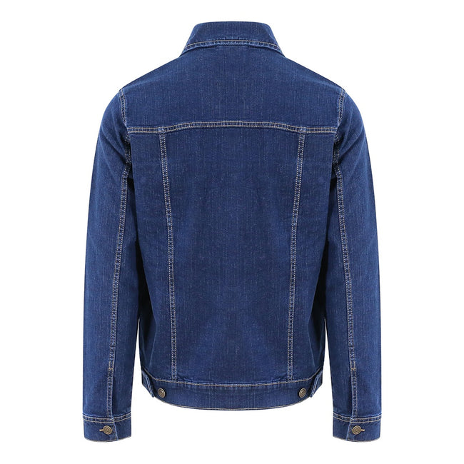 Dark Blue Wash - Back - So Denim Mens Noah Denim Jacket