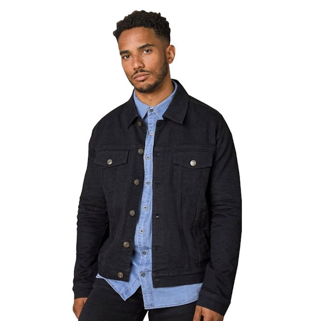 Black - Front - So Denim Mens Noah Denim Jacket