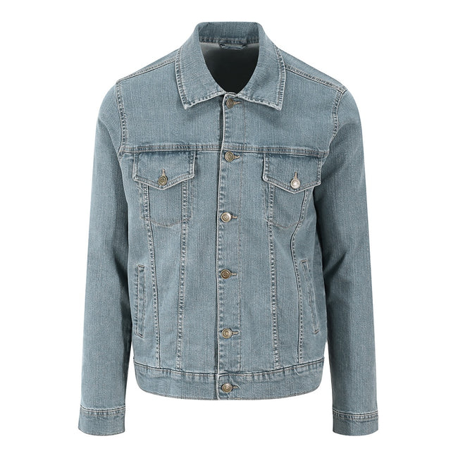 Light Blue Wash - Front - So Denim Mens Noah Denim Jacket