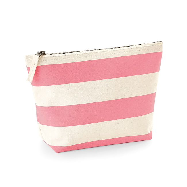 Natural-Pink - Front - Westford Mill Nautical Accessory Bag