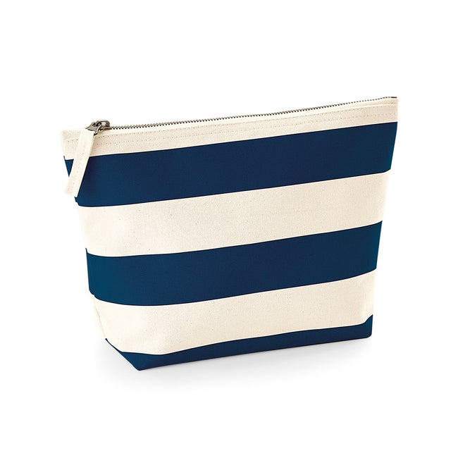Natural-Navy - Front - Westford Mill Nautical Accessory Bag